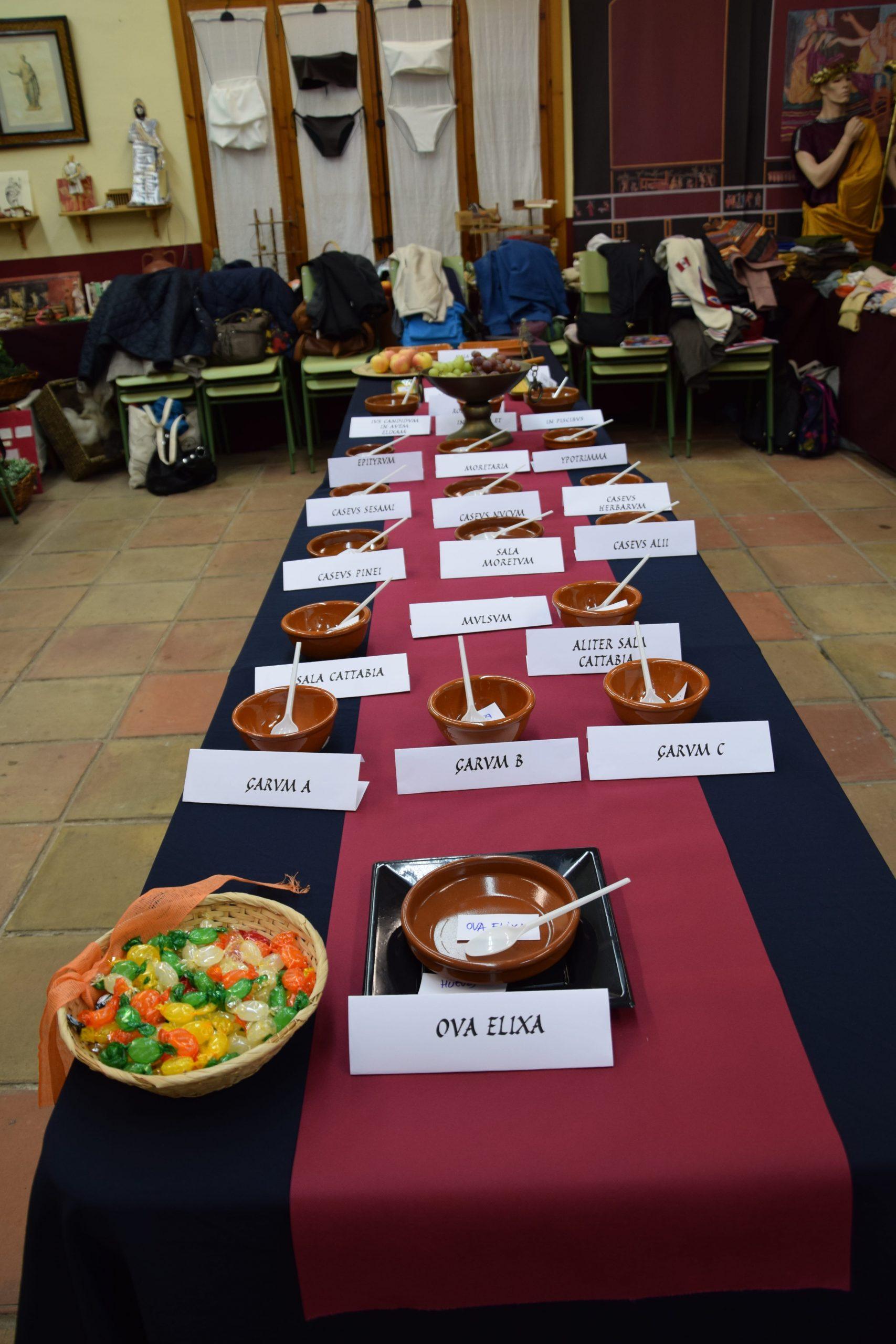 Banquete romano en la Domus Baebia